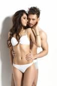 Erotic couple in lingerie — Stockfoto