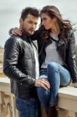 Sexy fashionable couple — Stock Photo