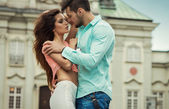 Sexy young couple in love — Stock Photo