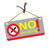 No smoking - is torture. — Stock Photo