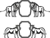 Frame with animals of Africa — Wektor stockowy