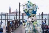 Carneval mask in Venice - Venetian Costume — Stock Photo