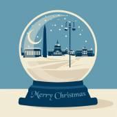 Christmas snow ball — Stock Vector