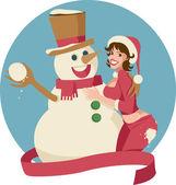 Sneeuwpop — Stockvector