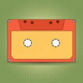 Audio cassette retro design — Photo