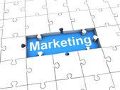 Marketing Puzzle — Stock Photo