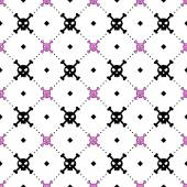 Girly skull and bones pattern — Vector de stock
