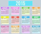Year 2015 flat style Calender — Stock vektor