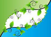 Fresh Leaves Background — Stock Vector