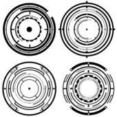 Futuristic Tech Circles — Stock Vector