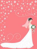 Bride — Stock Vector