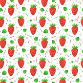 Seamless pattern di fragole — Vettoriale Stock