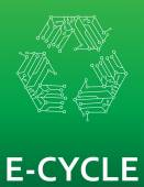 E-Cycle electronics recycling — Stock Vector