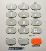 Grey Telephone keypad — Stock Photo