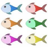 Set van vis — Stockvector