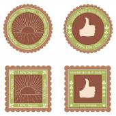 Quality labels — Stock Vector