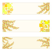 Autumn themed Banners — Vector de stock
