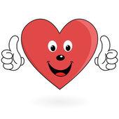 Healthy love heart — Stock Vector