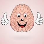 Healthy Cartoon Brain — Stock Vector #67960397