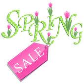 Ilustração de venda de primavera — Vetor de Stock