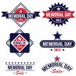 Memorial day sale badges — Stock Vector #69467895