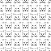 Cat face seamless pattern — Stock Vector
