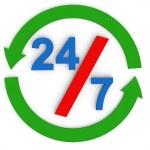 Twenty four by seven — Stock Photo #71870931