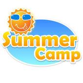 Summer camp banner design — Stock Vector