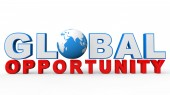 3d global opportunity text — Stock Photo
