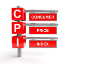 Consumer price index abbreviation — Stock Photo