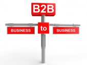 Business to Business concept — Stock Photo