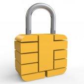 3d security chip Locka — Zdjęcie stockowe