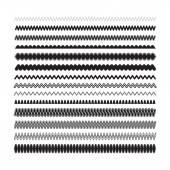 Decorative design elements. Simple zigzag, wavy underlines for s — Stock Vector