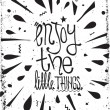 Simple vintage motivational poster, doodles, with grunge effects — Stock Vector #65411201