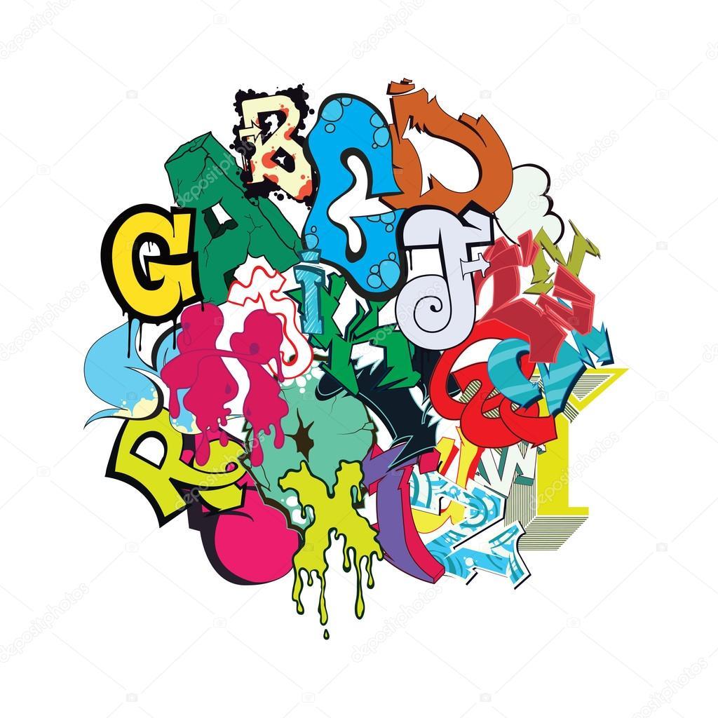 happy birthday graffiti letters
