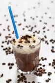 Coffee cocktail with cream foam — Stock Photo
