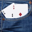 Deck of cards in pocket — Stock Photo #61813929