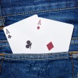 Deck of cards in pocket — Stock Photo #61813947