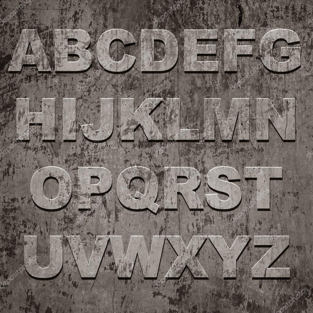 Latters of alphabet on grunge texture — Stock Photo © AY_PHOTO ...