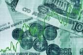 Rising ruble — Stock Photo