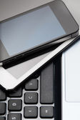 Smartphone, tablet and laptop — Stock Photo