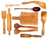 Wooden kitchen utensils — Stock Photo