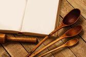 Wooden kitchen utensils — Zdjęcie stockowe