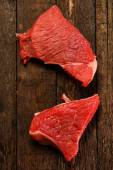 Raw meat on table — Stock Photo