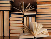 A lot of old books — Stock Photo