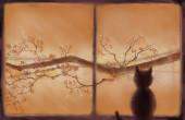 Gato mirando por la ventana — Foto de Stock