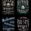 Vintage Whiskey Label T-shirt Graphic Set — Stock Vector #55636687