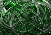 3D abstract geometric glass spirals — Stock Photo
