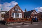 Traditional Icelandic architecture — Stock Photo