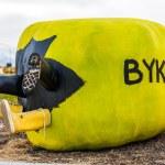 Fun yellow street art — Stock Photo #52173271